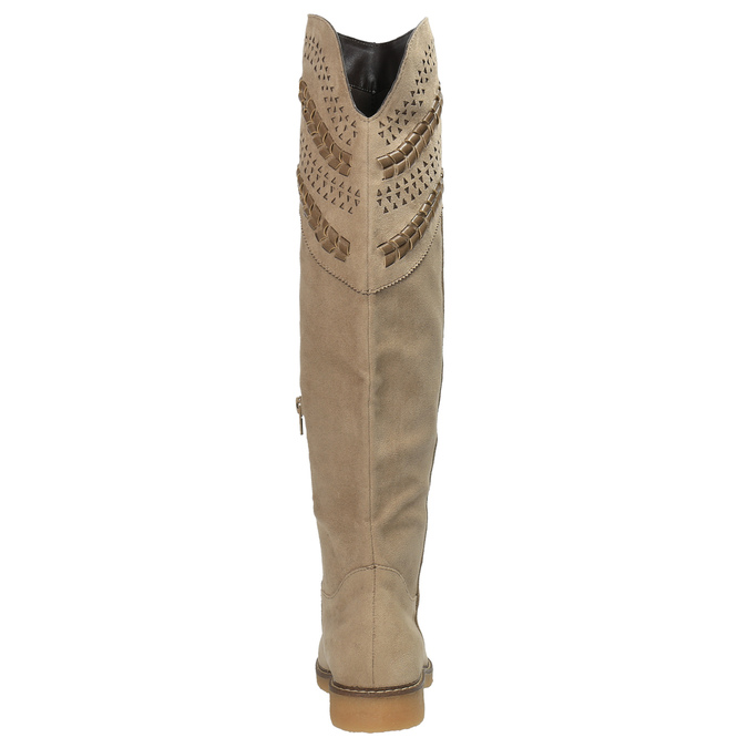 Kozaki za kolana bata, beżowy, 599-2602 - 17