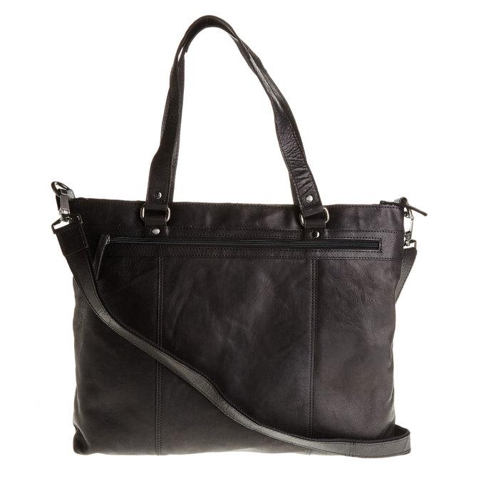 Skórzana damska torebka bata, czarny, 964-6132 - 26