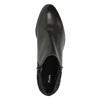 Botki ze skóry na niskim obcasie bata, czarny, 696-6613 - 19