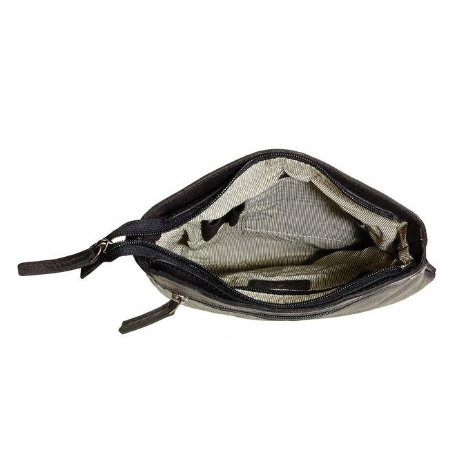 Skórzana torba listonoszka bata, czarny, 964-6113 - 15