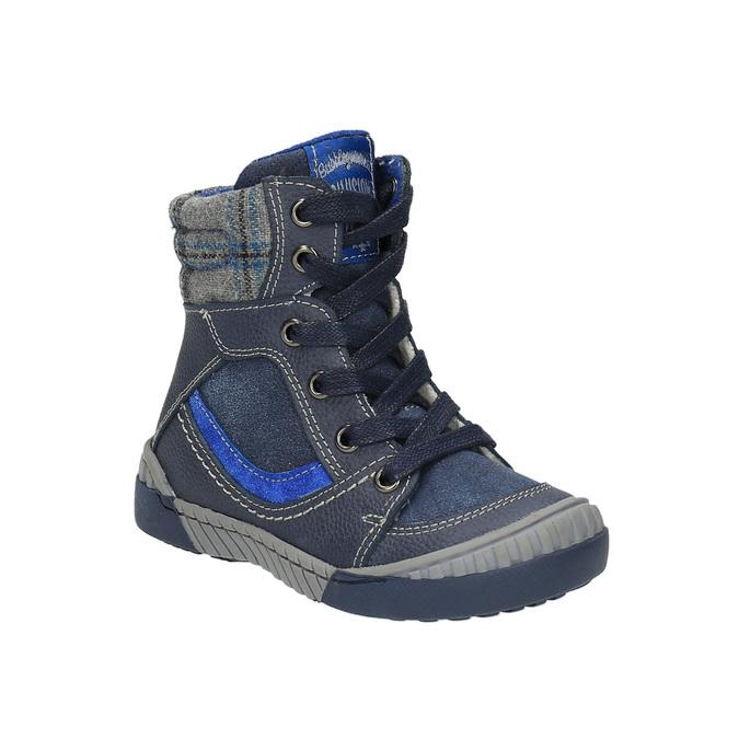 Ocieplane buty dziecięce ze skóry bubblegummer, niebieski, 116-9102 - 13