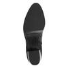 Botki ze skóry na niskim obcasie bata, czarny, 696-6613 - 26