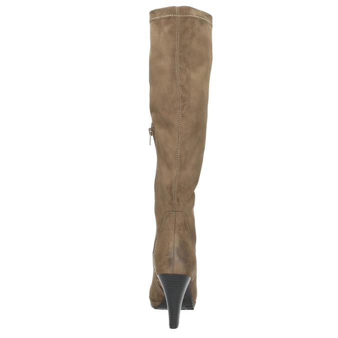Kozaki damskie na obcasie bata, beżowy, 799-2602 - 17