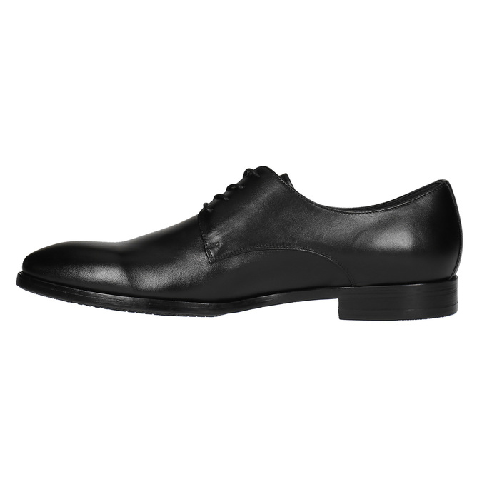 Czarne półbuty ze skóry bata, czarny, 824-6732 - 26
