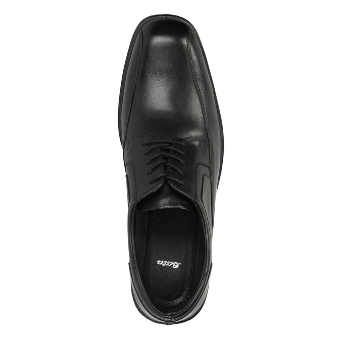 Półbuty męskie ze skóry bata, czarny, 824-6744 - 19