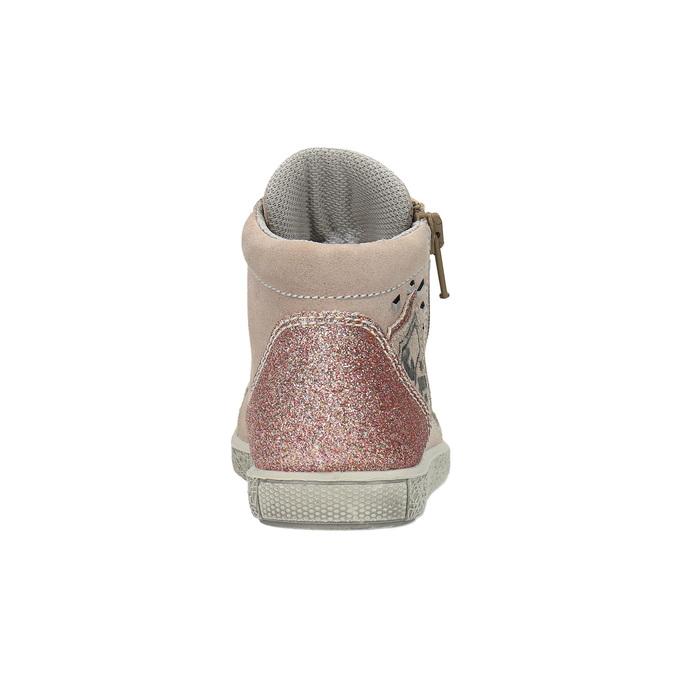 Trampki dziecięce ze skóry, za kostkę mini-b, różowy, 323-5171 - 17