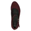 Bordowe czółenka zpaskiem na podbiciu bata, czerwony, 729-5601 - 19