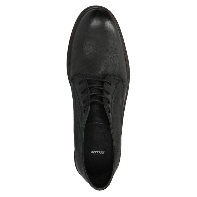Skórzane buty męskie za kostkę bata, czarny, 826-6642 - 19