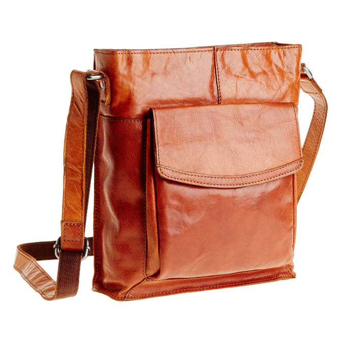 Męska skórzana torba Crossbody bata, brązowy, 964-3141 - 13