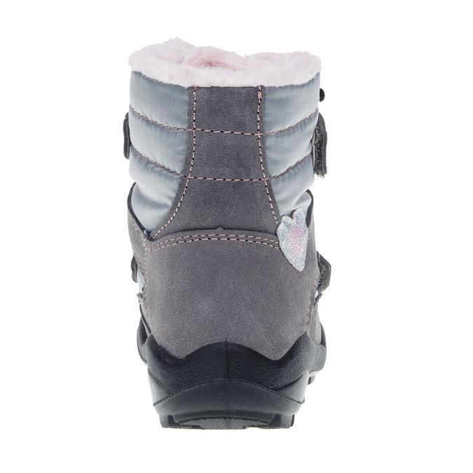 Skórzane buty zimowe mini-b, szary, 293-2152 - 17