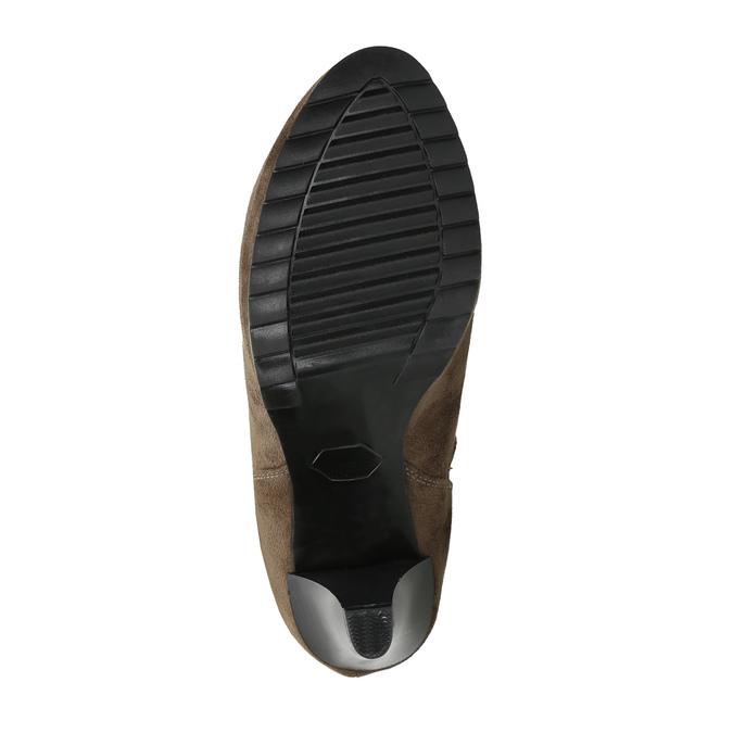 Botki na obcasie z elastycznymi wstawkami po bokach bata, beżowy, 799-2601 - 26