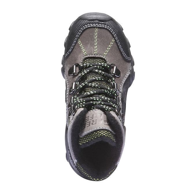 Dziecięce wysokie skórzane buty mini-b, szary, 216-2100 - 19