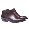 Skórzane buty w stylu Chelsea bata, czerwony, 594-5106 - 26