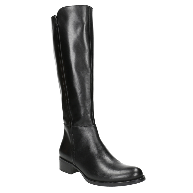 Skórzane kozaki damskie bata, czarny, 594-6586 - 13