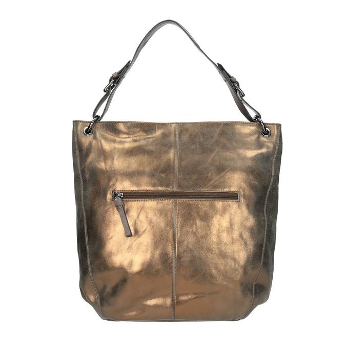 Złota skórzana torba gabor-bags, złoty, 966-8001 - 19