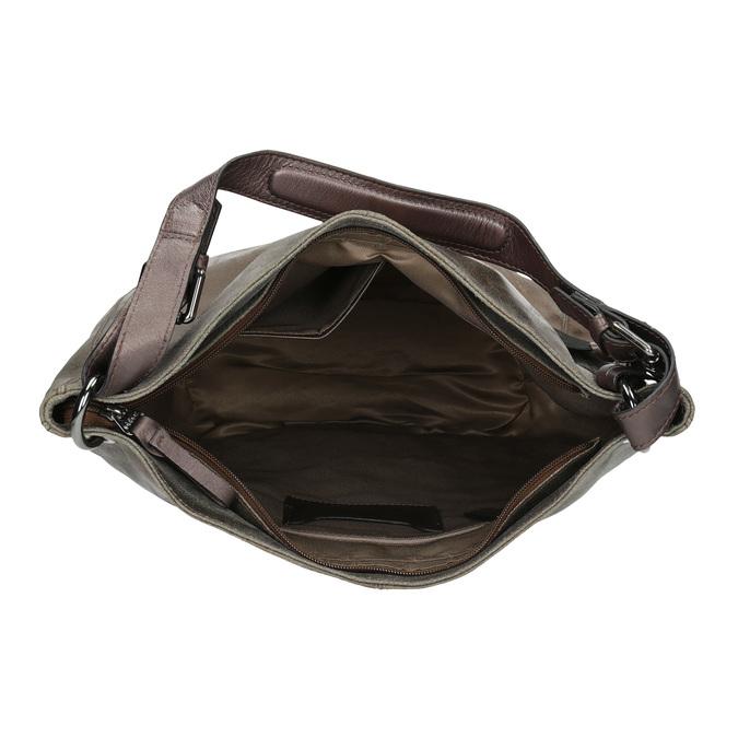 Złota skórzana torba gabor-bags, złoty, 966-8001 - 15