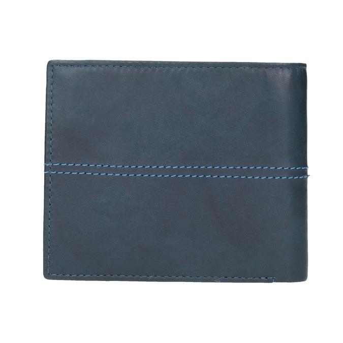 Skórzany portfel zprzeszyciami bata, niebieski, 944-9176 - 19