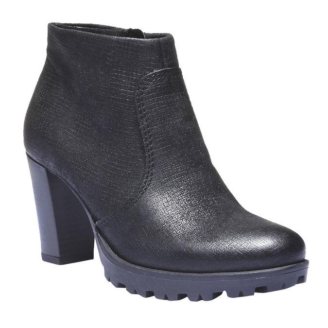 Skórzane buty do kostki bata, czarny, 796-6107 - 13