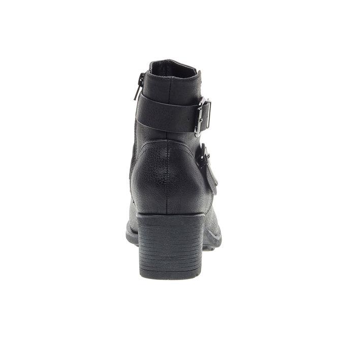 Botki ze sprzączkami bata, czarny, 691-6103 - 17