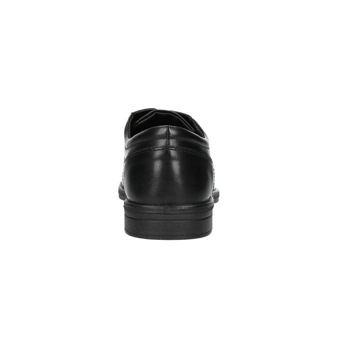 Czarne półbuty ze skóry bata, czarny, 824-6743 - 17