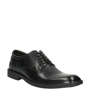 Czarne półbuty ze skóry bata, czarny, 824-6743 - 13