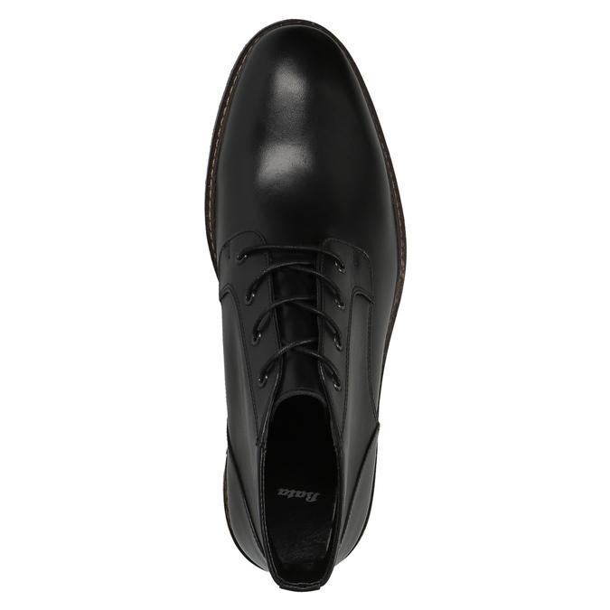 Skórzane buty za kostkę wstylu chukka bata, czarny, 824-6677 - 19