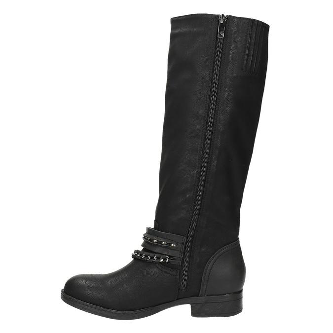 Kozaki damskie bata, czarny, 591-6611 - 26