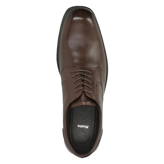 Półbuty męskie ze skóry bata, brązowy, 824-4743 - 19