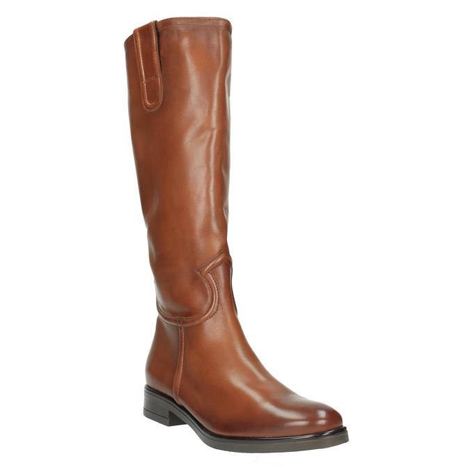 Damskie skórzane kozaki bata, brązowy, 596-4608 - 13