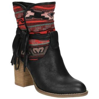 Ocieplane botki w stylu kowbojskim bata, czarny, 699-6603 - 13