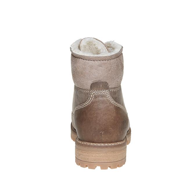 Zimowe skórzane buty damskie weinbrenner, brązowy, 594-8491 - 17