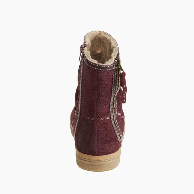 Skórzane kozaki do kostki bata, 593-9103 - 17