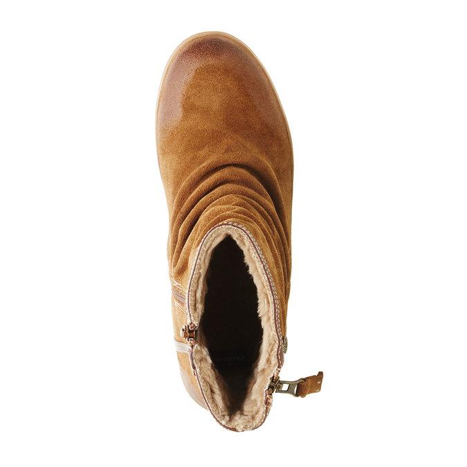 Skórzane botki bata, brązowy, 593-4103 - 19