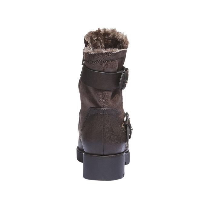 Buty zimowe bata, brązowy, 591-4108 - 17