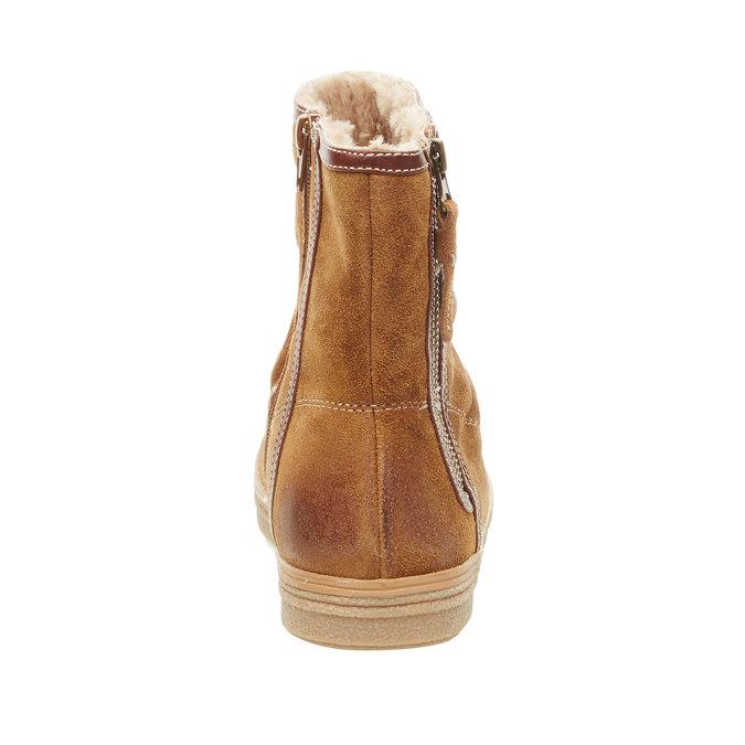 Skórzane botki bata, brązowy, 593-4103 - 17