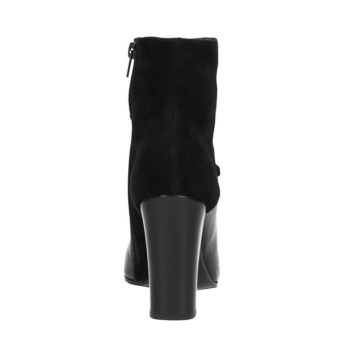 Skórzane botki wszpic bata, czarny, 794-6641 - 17