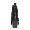 Skórzane botki zelastycznymi wstawkami po bokach bata, czarny, 696-6644 - 17