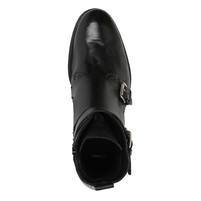 Skórzane buty ze sprzączkami bata, czarny, 894-6683 - 19