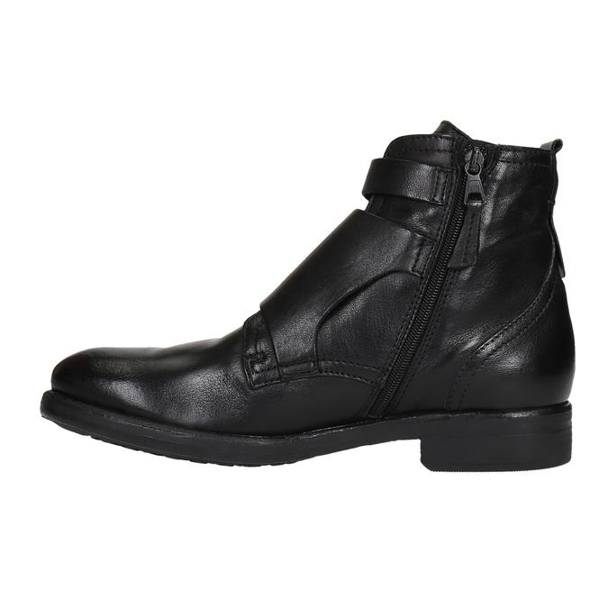 Skórzane buty ze sprzączkami bata, czarny, 894-6683 - 26