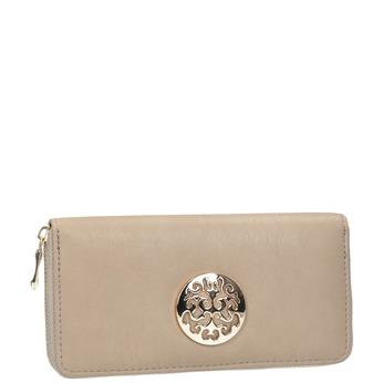 Elegancki portfel zaplikacją bata, beżowy, 941-8150 - 13