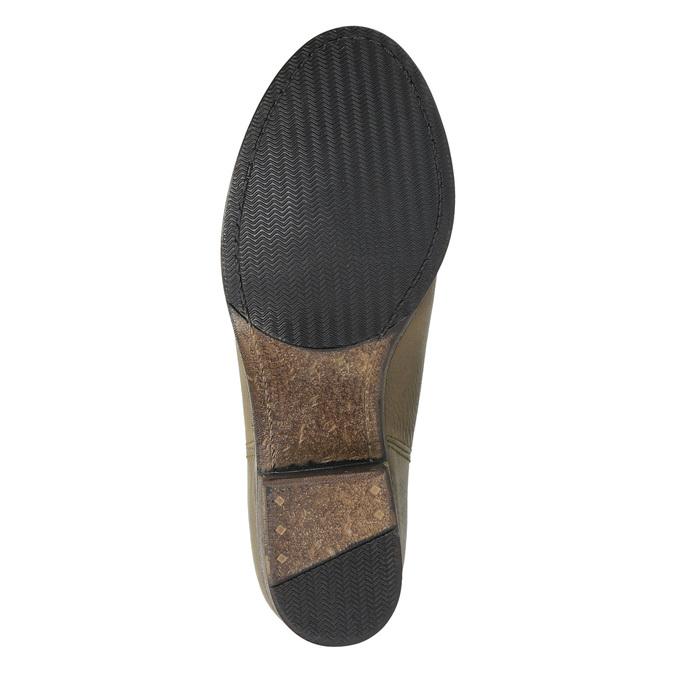 Damskie kozaki kowbojki ze skóry bata, brązowy, 696-2607 - 26