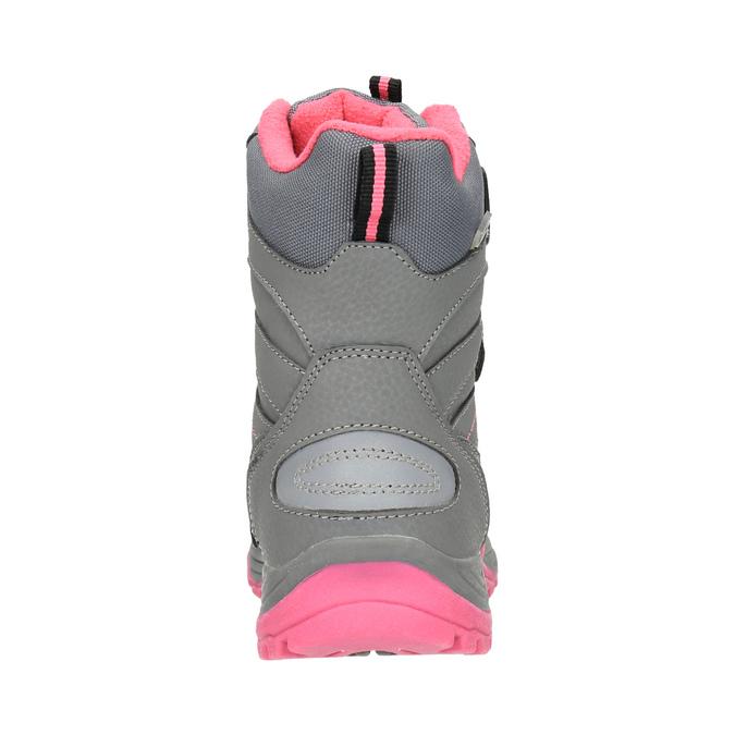 Dziecięce buty zimowe mini-b, szary, 391-2100 - 17