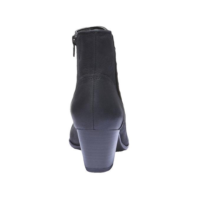 Skórzane botki bata, czarny, 696-6100 - 17