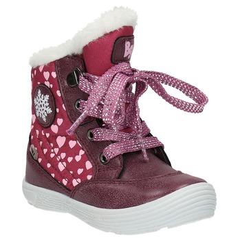 Zimowe buty dziewczęce zfuterkiem bubblegummer, czerwony, 199-5600 - 13