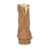 Ocieplane botki ze skóry bata, brązowy, 596-3610 - 17
