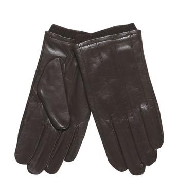 Męskie skórzane rękawiczki ze ściągaczem bata, brązowy, 904-4117 - 13