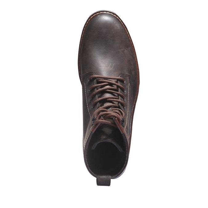 Skórzane botki bata, brązowy, 894-4360 - 19