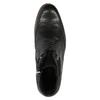 Skórzane buty za kostkę zniebieską podeszwą conhpol, czarny, 894-6682 - 19