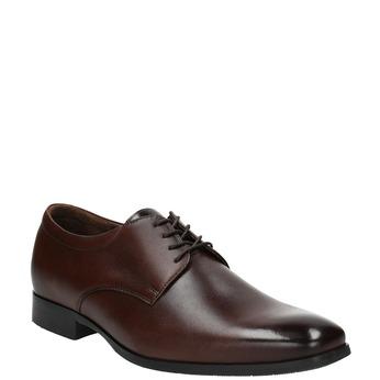 Skórzane męskie półbuty typu Derby bata, brązowy, 824-4752 - 13
