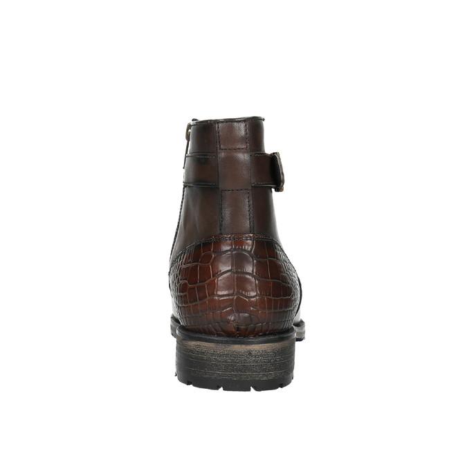 Męskie botki ze sprzączką bata, brązowy, 894-4652 - 17